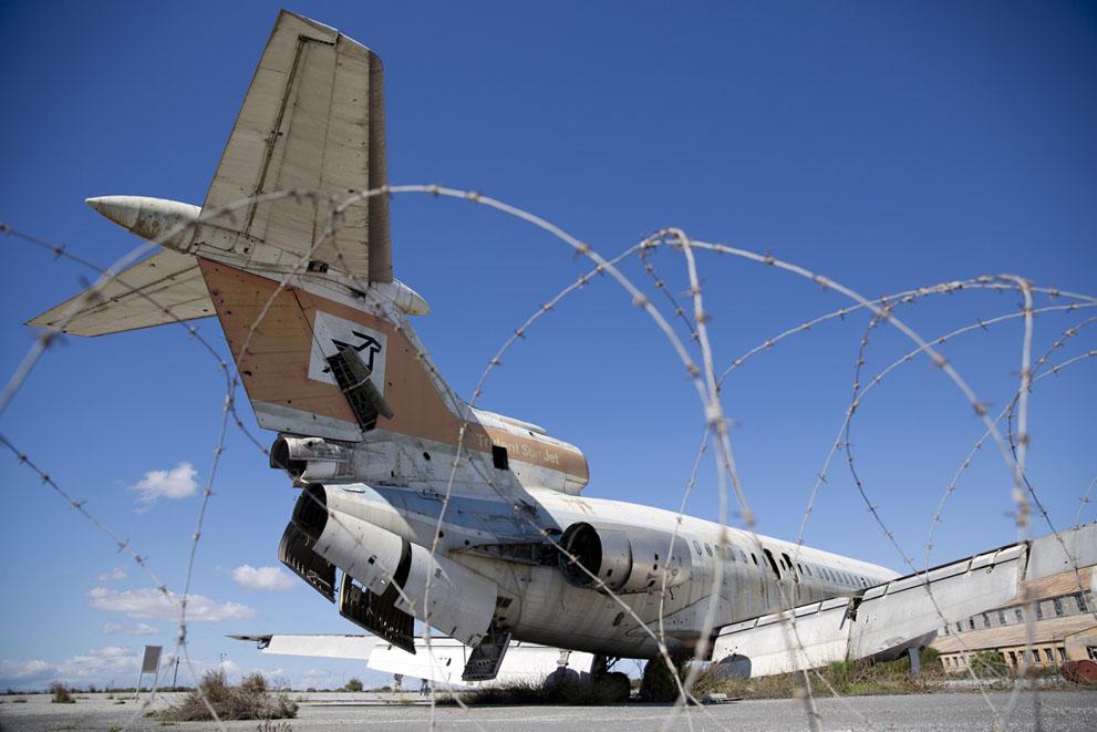 Пассажирский самолет рядом с Никосией